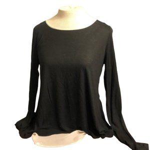 CYNTHIA ROWLEY Open Back Unique Blouse Size S